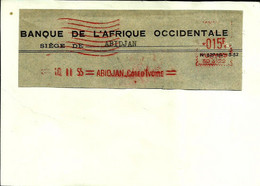 Lettre  EMA Secap 1955 Banque De L'afrique Occidentale Abidjan Cote Ivoire  C38/17 - Zonder Classificatie