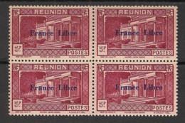 Réunion - 1943 - N°Yv. 213 - France Libre - Musée Dierx 5f - Bloc De 4 - Neuf GC ** / MNH / Postfrisch - Unused Stamps