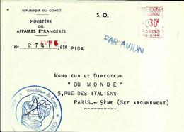 Lettre  EMA Secap 19?? Republique Du Congo  C38/19 - Zonder Classificatie