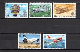 SALOMON  N° 485 à 489     NEUFS SANS CHARNIERE  COTE 6.50€   AVION ESPACE BALLON - Solomon Islands (1978-...)