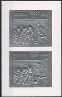 Soccer - Football - Olympics 1996 - GUYANA - S/S Perf. Silver MNH - Zonder Classificatie