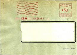 Lettre  EMA Havas 1965 Flamme Muette Algerie  Alger  C38/28 - Zonder Classificatie