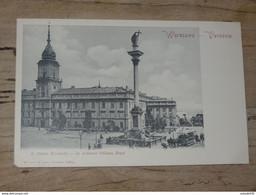 POLOGNE :  WARSZAWA : Le Ci Devant Chateau Royal ................ 201101-1738 - Polonia