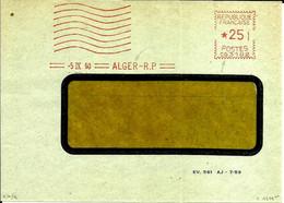 Lettre  EMA Havas 1960 Flamme Muette Algerie  Alger  C38/29 - Zonder Classificatie