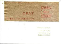 Lettre  EMA Havas 1965   CFAT Algerie  Oran  C38/31 - Zonder Classificatie