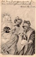 DC5570 - Ak Schöne Motivkarte Dame Junge Frau Mädchen Schneemann Winter - Mujeres