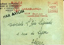 Lettre  EMA Havas 1958 BNCI  Casablanca Maroc  C38/33 - Zonder Classificatie
