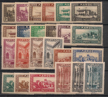 Maroc - 1933-34 - N°Yv. 128 à 149 - Série Complète - Neuf Luxe ** / MNH / Postfrisch - Neufs