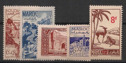 Maroc - 1948 - N°Yv. 266 à 270 - Année Complète - Neuf Luxe ** / MNH / Postfrisch - Unused Stamps