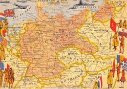 ALLEMAGNE ET PAYS LIMITROPHES - FRONTIERES DE 1919 - CARTE DESSINEE, ILLUSTRATEUR PINCHON - Unclassified