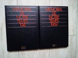 MEMORIAL DE NOTRE TEMPS ANNEES 1941 ET 1969 HACHETTE - Encyclopaedia