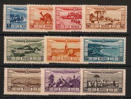 Maroc - 1928 - Poste Aérienne PA N°Yv. 12 à 21 - Série Complète - Neuf Luxe ** / MNH / Postfrisch - Luchtpost