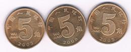 5 WU JIAO  3X CHINA /3054/ - China