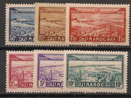 Maroc - 1933 - Poste Aérienne PA N°Yv. 34 à 39 - Série Complète - Neuf Luxe ** / MNH / Postfrisch - Airmail