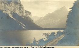 AUSTRIA  ÖSTERREICH - STEIERMARK - EISENERZ, Leopoldsteinersee, Foto-Karte MAX HELFF, JUDENBURG - Eisenerz
