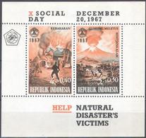 1848 ✅ Geology Volcanoes Firefighters Firemens Disasters 1967 Indonesia S/s MNH ** 38ME - Brandweer