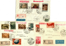 Lettland: 2x Einschreiben/Luftpost 1950/51 Riga Nach Basel/Schweiz - Letonia