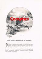 273 E.T.Compton Sankt Bernhard Aostatal Verres Artikel Mit 4 Bildern 1896 !! - Stampe
