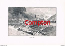 274 E.T.Compton Grajischen Alpen Locana Paradiso Artikel Mit 7 Bildern 1896 !! - Stampe