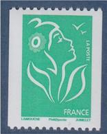 Type Marianne De Lamouche TVP Vert De Roulette Phil@poste Neuf Gommé N°3742A Et Numéro 199 Noir Au Verso - Rollo De Sellos