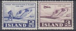 ++M1444. Iceland 1951. Postservice. Michel 273-74. MNH(**) - Ungebraucht