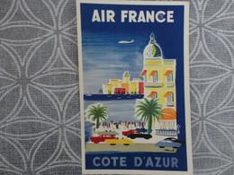 AIR FRANCE RESEAU AERIEN MONDIAL COTE D'AZUR  HUBERT BAILLE COMPAGNIE AERIENNE - Unclassified