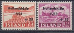 ++M1446. Iceland 1953. Hollandshjàlp. Michel 285-86. MNH(**) - Ungebraucht