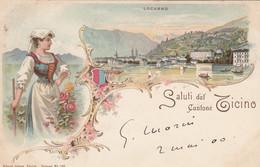 ZWITZERLAND-SCHWEIZ-SUISSE-SVIZZERA.LOCARNO-SALUTI DAL CANTONE TICINO-GRUSS AUS-VIAGGIATA IL 2-5-1900 - TI Tessin