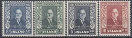 ++B1921. Iceland 1952. Björnsson. Michel 281-84. MNH(**) - Ungebraucht