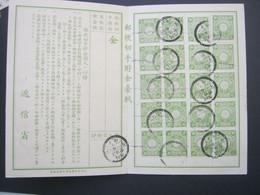 JAPAN ,  Postsparbuch Mit 20 Marken Gestempelt , Dekorativ Und Selten - Cartas