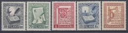 ++B1922. Iceland 1953. Manuscripts. Michel 287-91. MNH(**) - Ungebraucht