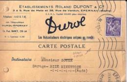 TYPE IRIS N° 651 SUR IMPRIMES Ou FACTURES DE 1945 - 1939-44 Iris