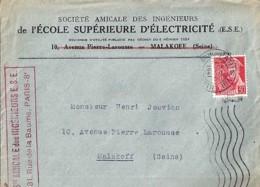 TYPE MERCURE N°412 SUR LETTRE DE 1940/41 - 1938-42 Mercure