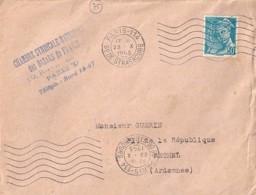 TP N° 549 SUR LETTRES DE 1943/44 - 1938-42 Mercure