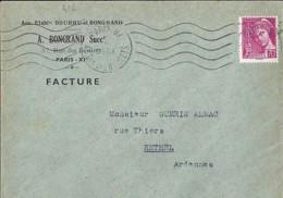 TP N° 416 SUR LETTRES FACTURES DE 1939/41 - 1938-42 Mercure
