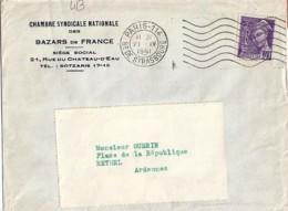 TP N° 413  SUR LETTRE DE 1941 - 1938-42 Mercure