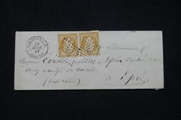 FRANCE / ALGÉRIE - Enveloppe De Philippeville Pour La France En 1857, Affr. Napoléon 10c En Paire, PC 3731 - L 94713 - 1849-1876: Periodo Clásico
