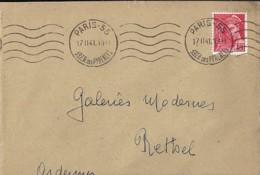 TP N° 412  SUR LETTRE DE 1940/41 - 1938-42 Mercure