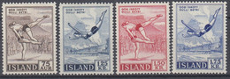++B1924. Iceland 1955-57. Sport. Michel 298-99 + 314-15. MNH(**) - Ungebraucht