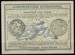 GREAT BRITAIN / SCOTLAND 1926 Ro7 4d. Provisional Int. Reply Coupon Reponse IRC IAS Antwortschein O SANDYFORD GLASGOW - Scotland