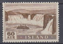 ++M1448. Iceland 1956. Waterfalls / Power. Michel 305. MNH(**) - Ungebraucht