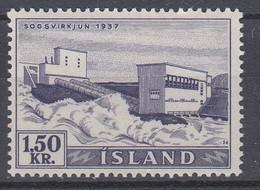 ++M1449. Iceland 1956. Waterfalls / Power. Michel 306. MNH(**) - Ungebraucht