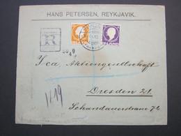 1912 , Einschreiben Nach Deutschland - Briefe U. Dokumente