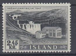 ++M1451. Iceland 1956. Waterfalls / Power. Michel 308. MNH(**) - Ungebraucht