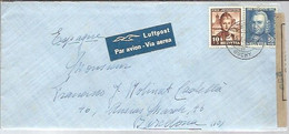 LETTER 1945   OUCHY  DOBLE  CENSURA - Covers & Documents