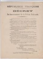 Guerre 1870 - Siege De Paris - Lot -  24 Dépêches Télégraphiques - Thiers - Gambetta - Documents Historiques