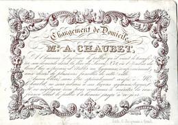 DE 623 - Carte Porcelaine Du Mr. A. Chaubet, Gymnase, Pour Changement De Domicile, Imp G. Jacqmain. - Sin Clasificación