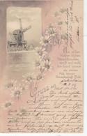 2960) GRUSS Aus FECHENHEIM - Sehr Schöne LITHO Mit WINDMÜHLE - Mühle - 12.08.1902 !! - Gruss Aus.../ Grüsse Aus...
