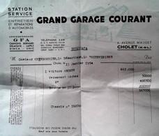 G 24 Lettre/document  Garage/  à Cholet - Automovilismo