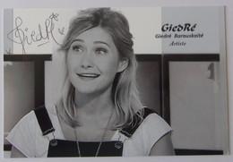 GIEDRE - Giedré Barauskaité - Dédicace - Hand Signed - Autographe Authentique - Zangers En Musicus